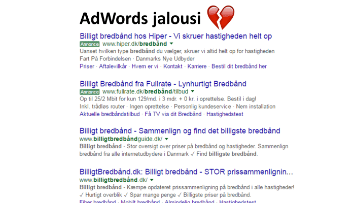 AdWords jalousi rammer SEO