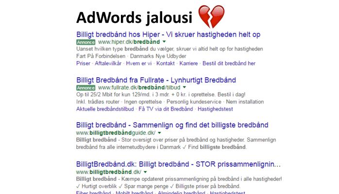 Adwords jalousi
